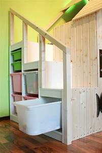 Ikea Hochbett Kura : ikea kura with hacked trofast steps kid 39 s room ~ A.2002-acura-tl-radio.info Haus und Dekorationen
