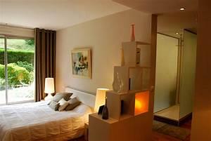 amenagement d39un espace chambre salle de bains With amenagement chambre avec dressing et salle de bain