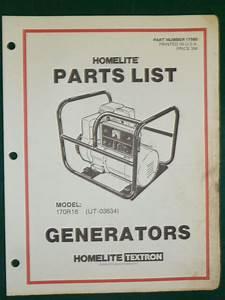 Homelite Generator 170r18 Ut