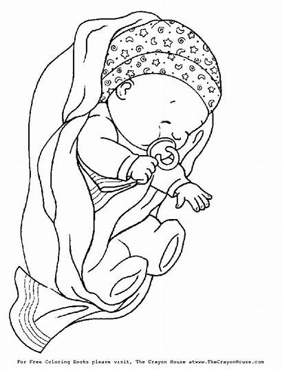 Blanket Coloring Pages Newborn Wrapped Pacifier Drawing