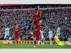 Liverpool 41 West Ham Salah, Firmino and Mane score