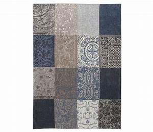 vintage patchwork blue denim 8108 louis de poortere store With tapis vintage patchwork