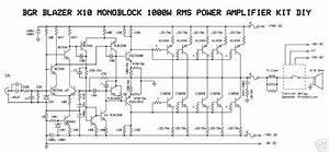 1000w Audio Power Amplifier Blazer Circuit