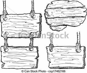 Clip Art Vector of grunge wooden plank isolated on white ...