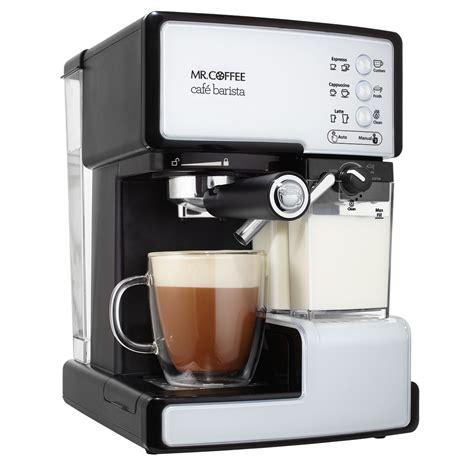barista espresso machine mr coffee caf 233 barista pump espresso maker at mrcoffee