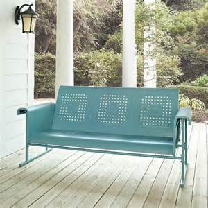 crosley veranda metal patio sofa glider target