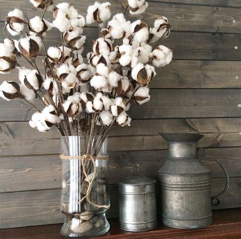 xmas floral decoration using cotton stalks set of 6 cotton picks