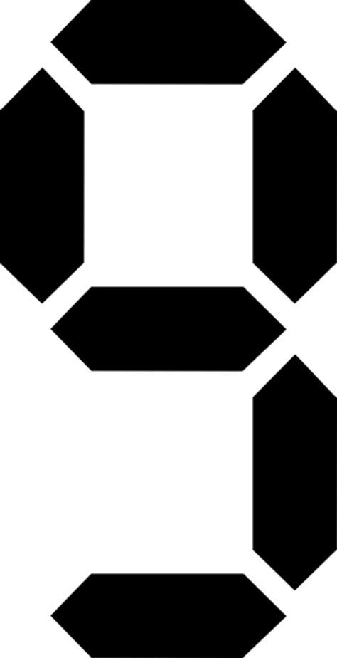 Seven Segment clip art Free Vector / 4Vector