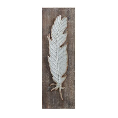 home decorators collection metal feather wood  metal