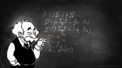 Physics Wallpapers Albert Math Board Einstein Chalk