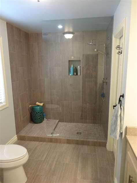 wonderful tile   shower   leonia