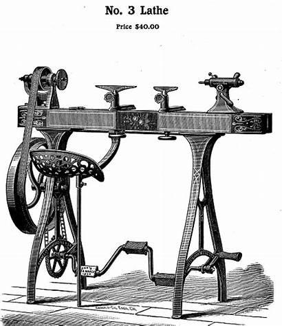 Lathe Barnes Wood Cut Foot Powered Machinery
