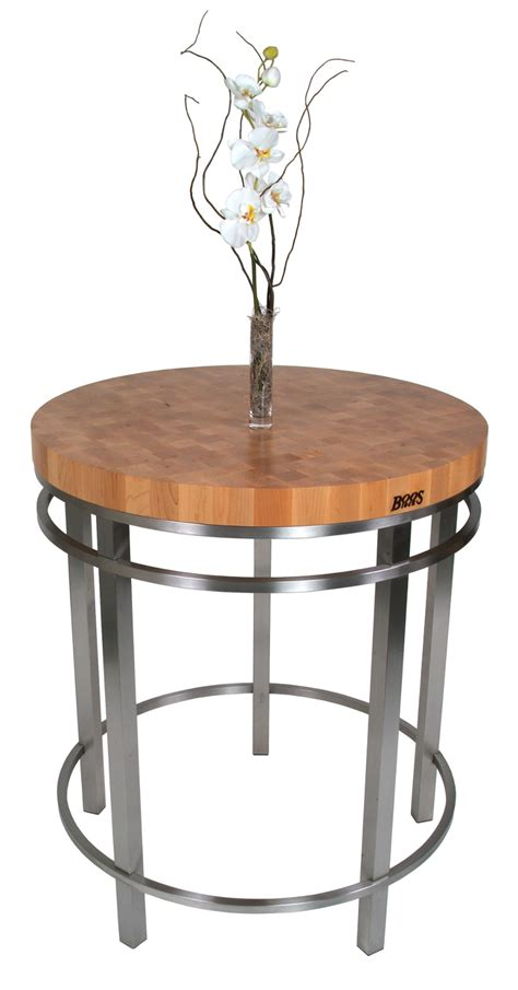 John Boos Metro Oasis Round Table  Woodsteel Table