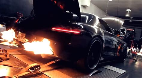 flame spitting cars includes  sls amg mbworld