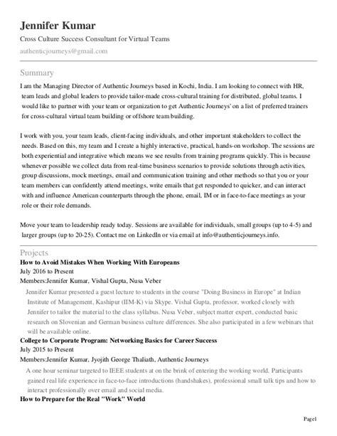 resume of iim student