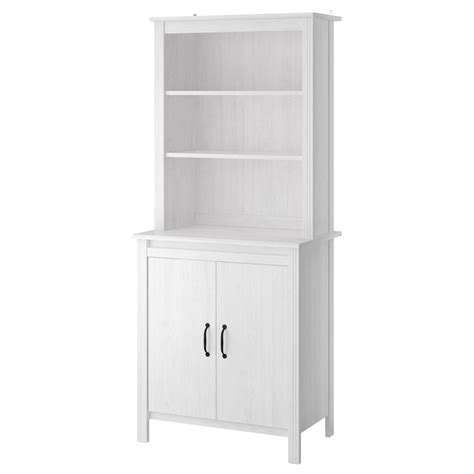 White Storage Cabinets Ikea by Brusali High Cabinet With Door White 80x190 Cm Ikea
