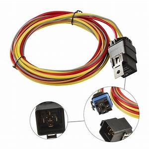 Dual Electric Cooling Fan Wiring Harness Thermostat Temp