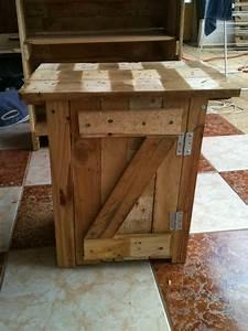 Meuble De Chevet : table de chevet cr ations et meubles en bois de palettes recycl es ~ Teatrodelosmanantiales.com Idées de Décoration