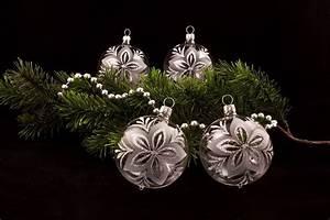 Weihnachtskugeln Aus Lauscha : 4 weihnachtskugeln 8cm transparent silber chr ~ Orissabook.com Haus und Dekorationen