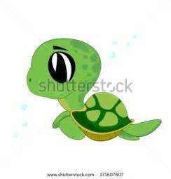 Cute Cartoon Baby Turtle Drawings