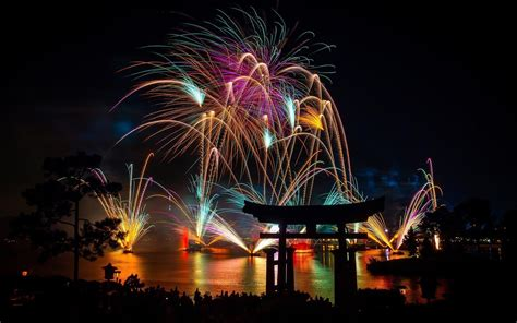 photography fireworks night city japan wallpapers hd