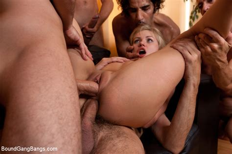 Petite Blonde Sasha Rose Gets Rough Fucked By A Ton Of