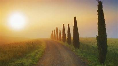 Tuscany Italy Wallpapers Sunset Wall Wallpapercave