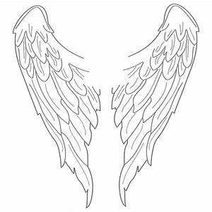 easy steps to draw angel wings Archives - Drawings Nocturnal