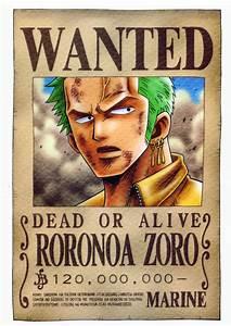 Zoro wanted by juju67 on DeviantArt