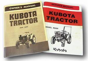 Set Of Kubota B6000 Tractor Service Owners Operators Parts