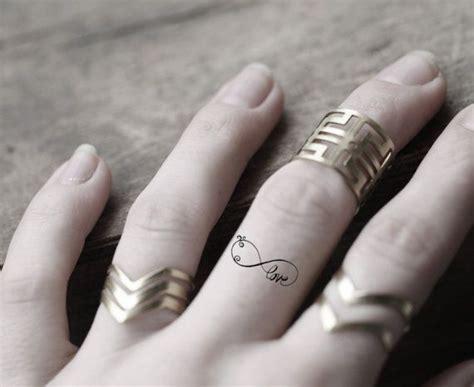 Mini Infinity Temporary Tattoo, Set Of 4 Tiny Tattoos