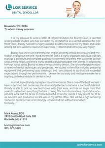 Letter of Remendation for Dental  Writing Service
