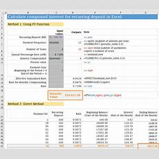 How To Calculate Compound Interest For Recurring Deposit