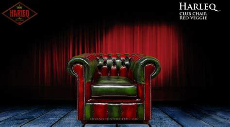 Divano Chesterfield Moderno In Pelle Verde E Rossa Harleq