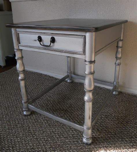 black and silver table ls createinspire silver side table for kitchen table