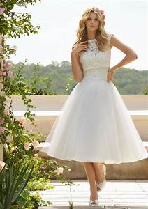 new arrival beautiful lace top tulle skirt tea length With lace top tulle skirt wedding dress