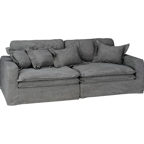 slouch sofa vintage grey cotton
