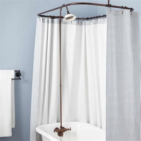 wide fabric shower curtain tags clawfoot tub