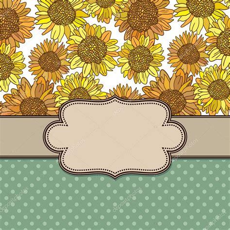 marco flores vintage vector Vector de stock © sntpzh