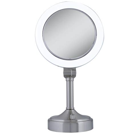 satin nickel mirror zadro surround light 10x 1x vanity mirror in satin nickel 2104