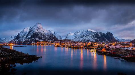 The Magic Islands Of Lofoten Norway Europe Winter Morning ...