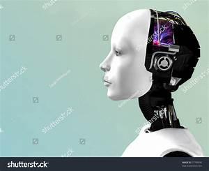 Image Robot Woman Head Profile Stock Illustration 31789996 ...