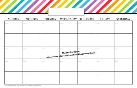 Bulletin Board Calendar Template by Printable 11x17 Calendar Calendar Templates