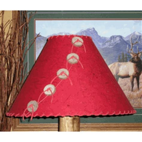 banana red rustic rice paper lamp shade