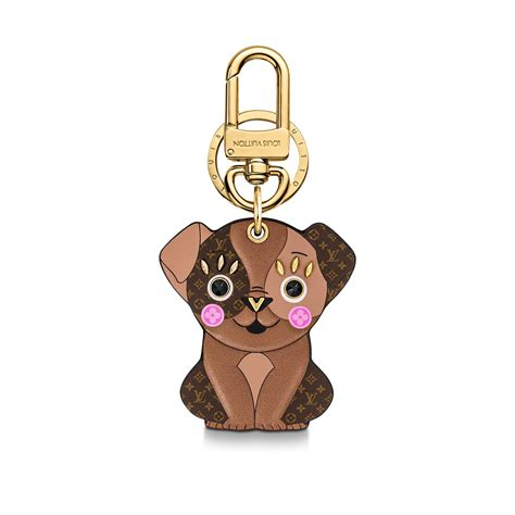 puppy bag charm  key holder sans ligne esthetique accessories louis vuitton