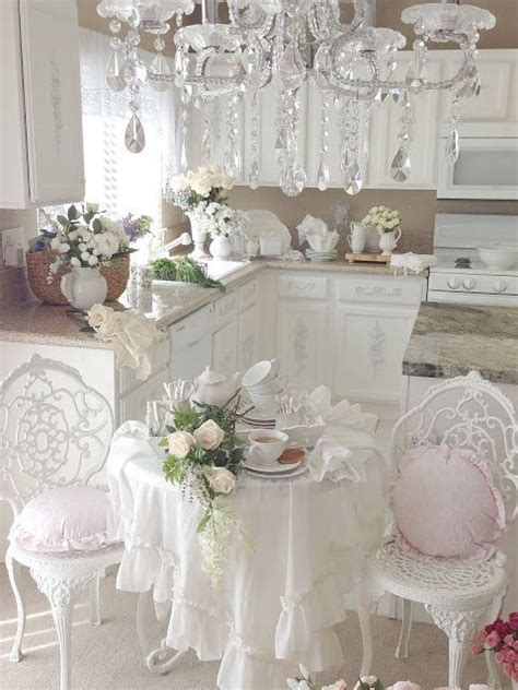 cuisine shabby chic picture of provence styled shabby chic kitchen in white