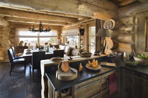 cuisine chalet bois decoration de cuisine