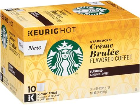For a serving size of 1 serving ( 100 g). Starbucks Creme Brulee Flavored Coffee K-Cup Pods | Hy-Vee ...