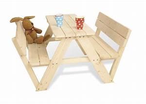 Table Exterieur En Bois : table exterieur pour enfant en pin massif pinolino ~ Teatrodelosmanantiales.com Idées de Décoration