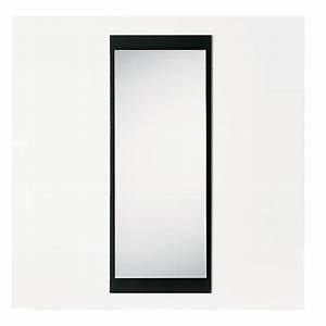 Miroir Cadre Noir : line r miroir rectangulaire avec cadre en verre color 45 x 114 cm sediarreda ~ Teatrodelosmanantiales.com Idées de Décoration